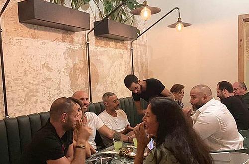 Guests in Lost restaurant, Gemmayzeh, Beirut, Lebanon